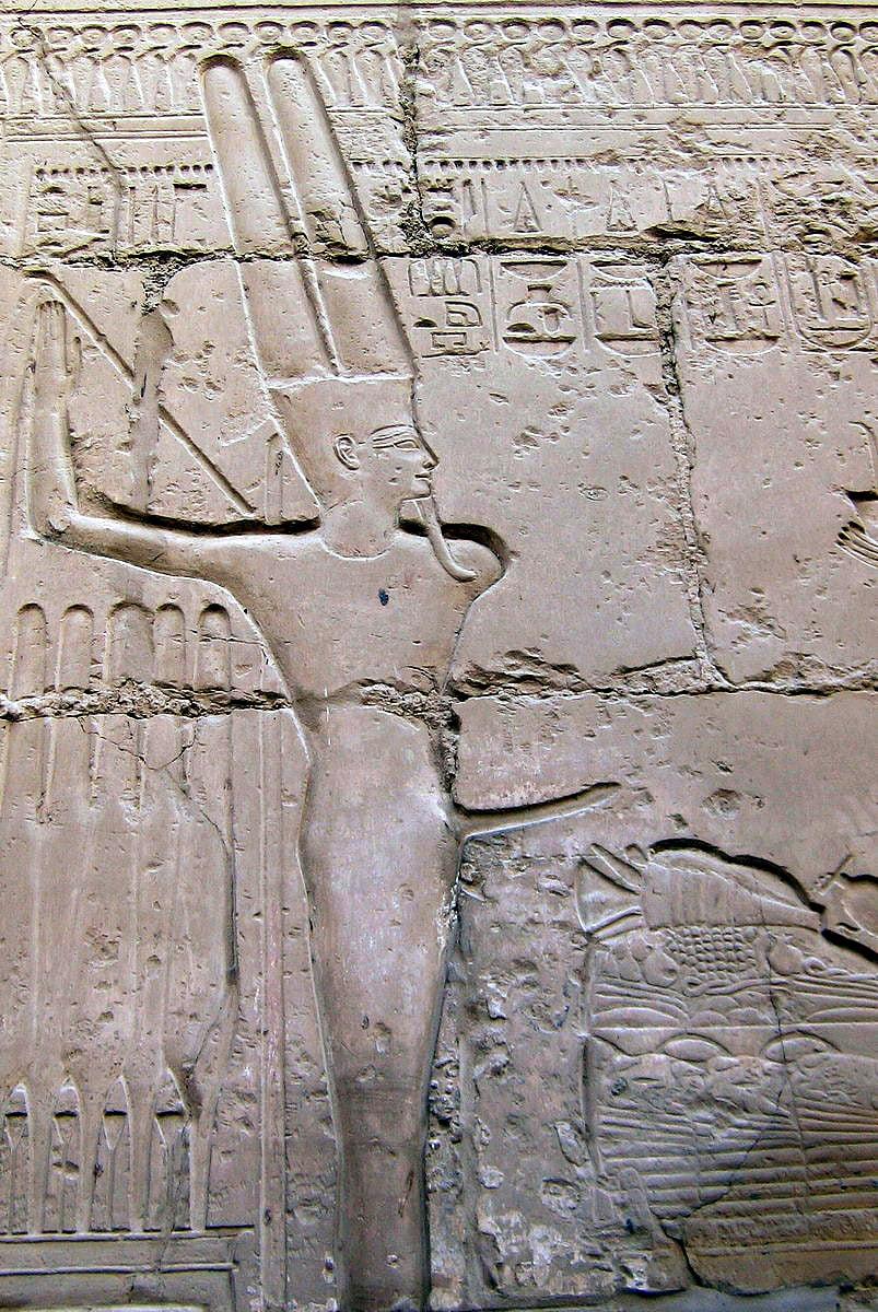 Обнаженный мужчина с эрегированным пенисом у египтян